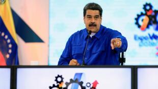 El presidente de Venezuela, Nicolás Maduro, durante una conferencia de prensa en Caracas, Venezuela. 30 de abril de 2018.