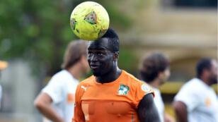 Cheick Tioté avec la Côte d'Ivoire lors de la CAN-2015.