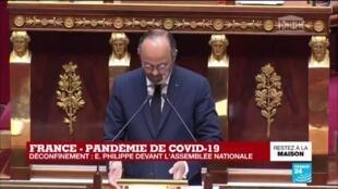 2020-04-28 15:33 Coronavirus - Philippe à l'Assemblée : Un déconfinement progressif, adapté aux territoires