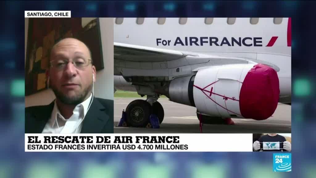 """2021-04-07 01:08 Ricardo Delpiano: """"Air France es un  importante actor de la economía francesa"""""""
