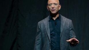 Le PDG d'Amazon Jeff Bezos, le 9 mai 2019 à Washington
