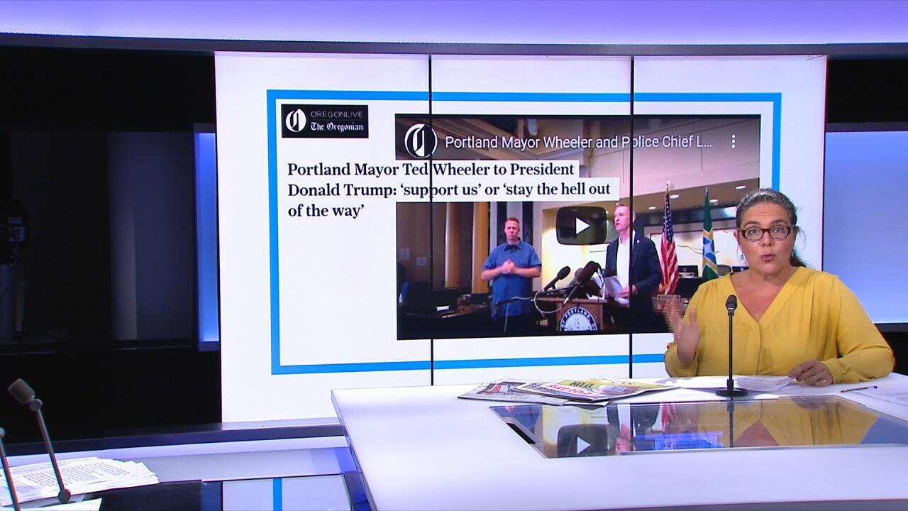 PRESS REVIEW: Portland Mayor asks Trump to 'stay the hell out of it'