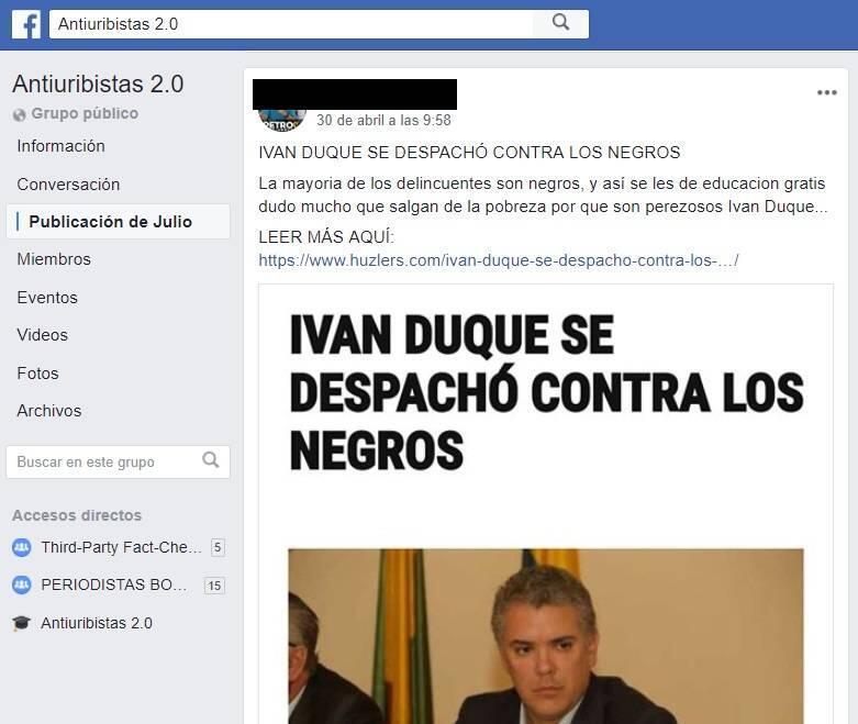 Iván Duque comentarios discriminatorios
