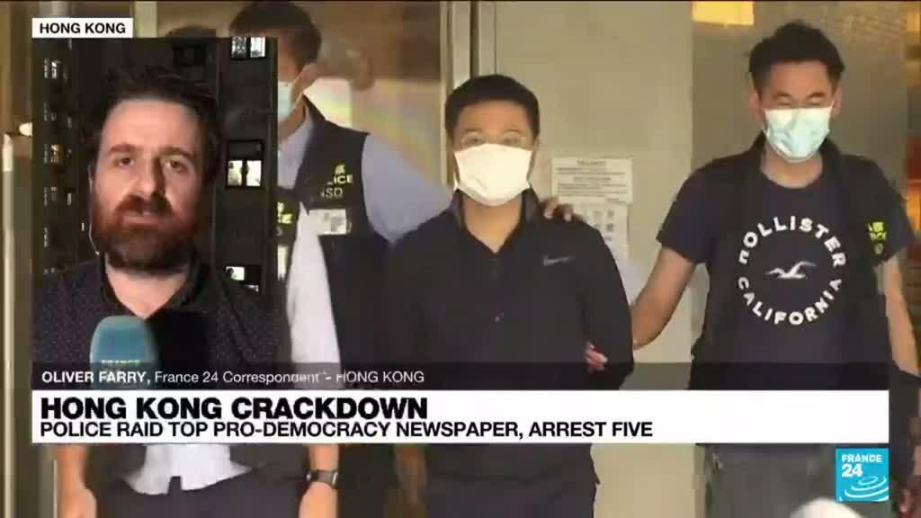2021-06-17 13:37 Editors of Hong Kong newspaper arrested under security law
