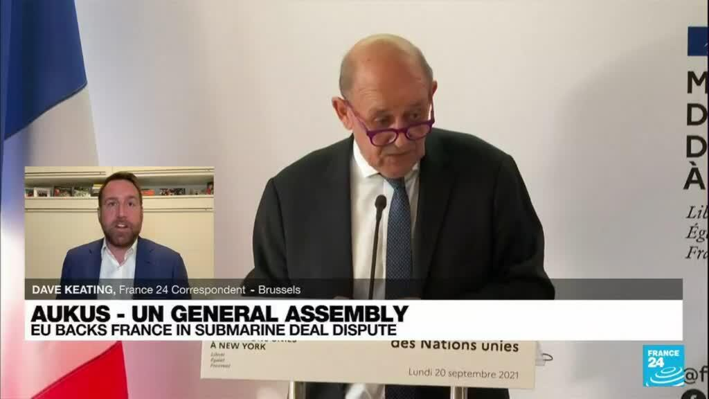 2021-09-21 08:03 'Is America back?': EU backs France in sub dispute at UN General Assembly