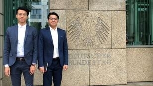 Hong Kong Chief Executive Carrie Lam slammed Germany's decision to grant asylum to Ray Wong and Alan Li