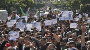 المظاهرات ضد العهدة الخامسة للرئيس الجزائري بوتفليقة. العاصمة 1 مارس/آذار 2019.