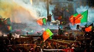 أجواء احتفالية في لشبونة