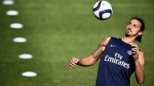 La star suédoise du PSG Zlatan Ibrahimovic.