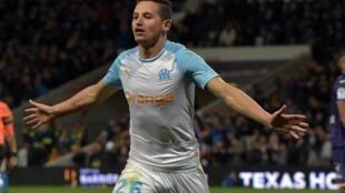 L'attaquant de Marseille Florian Thauvin lors d'un match à Toulouse le 18 mai 2019