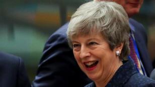 رئيسة الوزراء البريطانية تيريزا ماي خلال القمة الأوروبية في بروكسل 21 مارس/آذار 2019