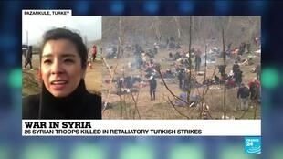 """2020-03-01 15:07 War in Syria: """"Lots of migrants are being turned away along Turkish-Greek border"""""""