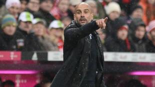 L'entraîneur du Bayern Munich Pep Guardiola, le 31 janvier 2016, lors d'un match contre le TSG 1899 Hoffenheim.