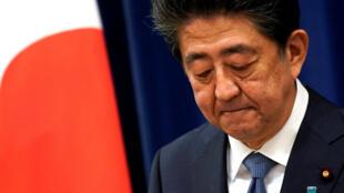 shinzo abe japon drapeau