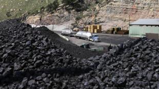 Une mine de charbon dans l'Utah (ouest des États-Unis)