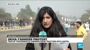 2021-01-26 10:07 Indian farmers pursue protests in Republic Day as talks with government fail to find common ground