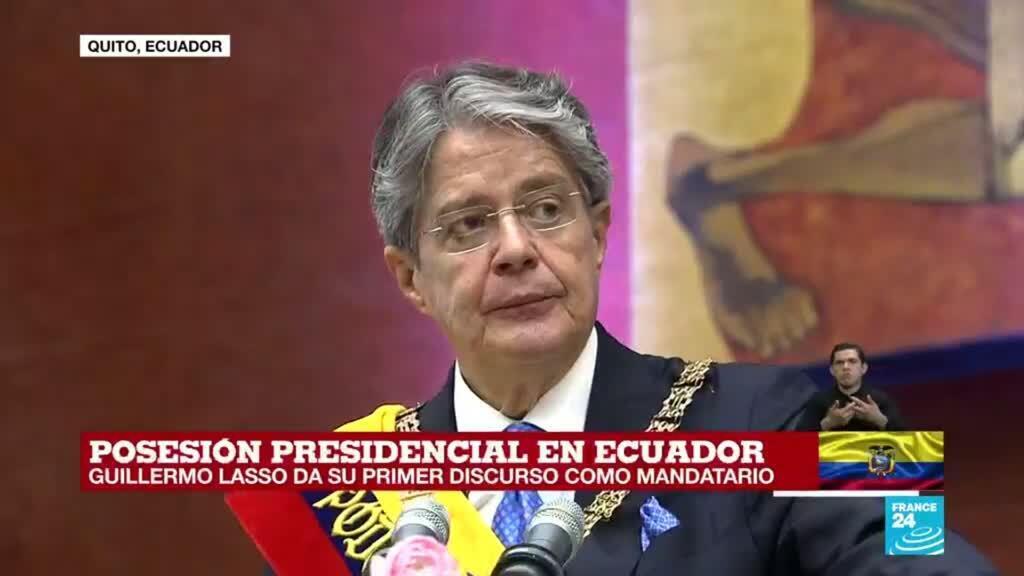 """2021-05-24 17:49 """"Hoy termina la era de los caudillos"""": Lasso en su primer discurso como presidente de Ecuador"""