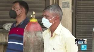 2021-05-17 14:42 India: crisis sanitaria por Covid-19 superó el límite del sistema sanitario