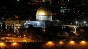 قبة الصخرة في حرم المسجد الأقصى بمدينة القدس الشرقية المحتلة