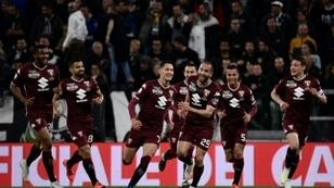 Sasa Lukic (C) scored the opening goal but Torino have not won at Juventus since 1995.