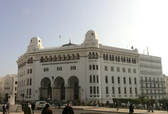 The magnificent edifice of the General Post Office in downtown Algiers.