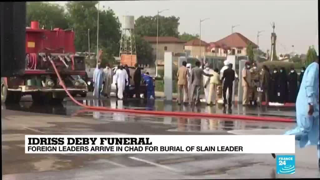 2021-04-23 09:41 Chad: Macron among dignitaries for veteran leader's burial