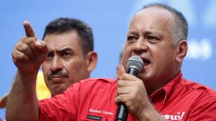 """Diosdado Cabello participó el sábado 27 de julio en la """"marcha por la paz y la unidad de los pueblos"""" con motivo de la celebración del XXV Encuentro del Foro de Sao Paulo, en Caracas (Venezuela)."""