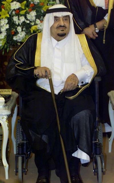 Le roi Fahd Bin Abdul Aziz al-Saoud à Djeddah le 15 avril 2000.