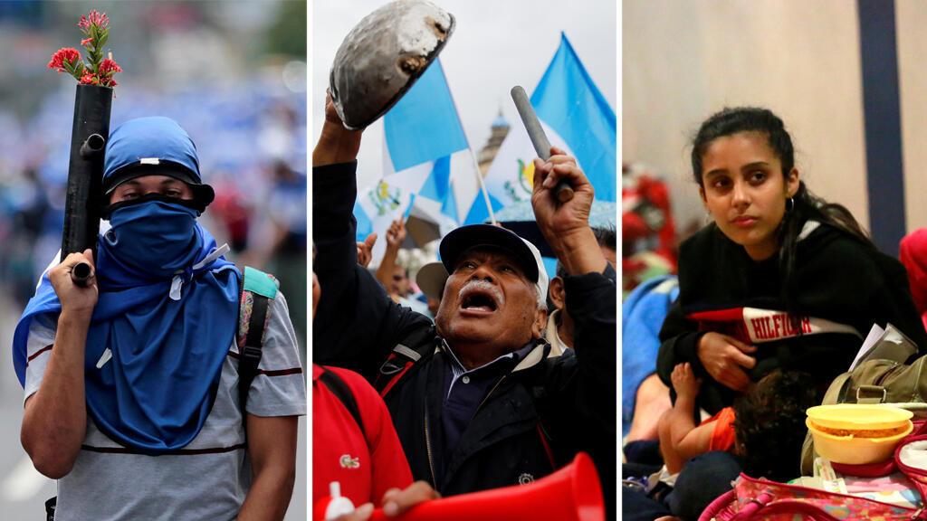 Las diferentes crisis en Nicaragua, Guatemala y Venezuela han provocado descontento, muerte y el éxodo de sus ciudadanos hacia otros países.