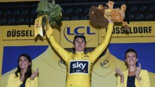 Geraint Thomas, premier leader du Tour de France 2017.
