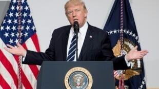 الرئيس الأمريكي دونالد ترامب في واشنطن في 21 آذار/مارس 2017