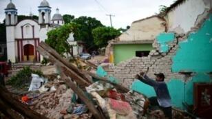 Les destructions provoquées par un séisme de magnitude 8,2 à Juchitan de Zaragoza, le 10 septembre 2017 au Mexique.