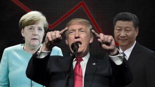 """La guerre commerciale """"totale"""" évoquée par le Conseil d'analyse économique concerne les États-Unis, la Chine et l'Union européenne"""