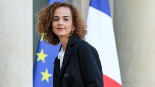 Leïla Slimani reçue à l'Élysée par le président Emmanuel Macron, le 6 novembre 2017.