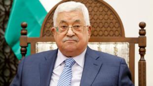 El presidente de la Autoridad Palestina, Mahmud Abbas, durante una reunión en Ramala. 29 de agosto de 2018.
