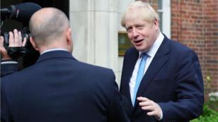 Le Premier ministre britannique Boris Johnson à son arrivée au Stormont House, à Belfast, le 31 juillet 2019.