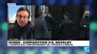 2021-02-02 11:01 Comparution d'Alexeï Navalny : l'audience sur l'emprisonnement de l'opposant a débuté