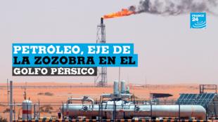 Archivo: Una llama de gas se ve en el desierto en el campo petrolero Khurais, a unos 160 km de Riad, Arabia Saudita, el 23 de junio de 2008 (reeditado el 16 de septiembre de 2019).