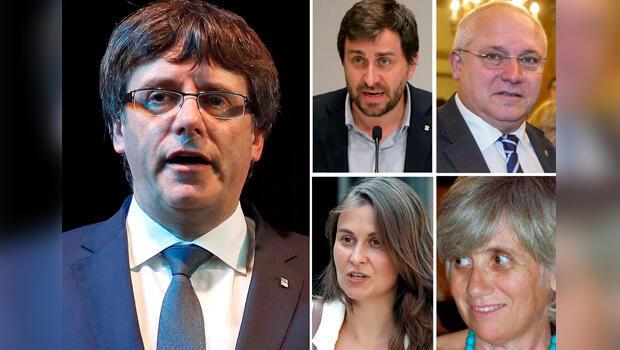 Puigdemont y sus cuatro exconsejeros
