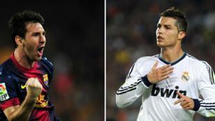 Nouveau duel entre Lionel Messi et Cristiano Ronaldo en vue au Bernabeu, samedi.