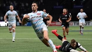 Racing 92's Argentina winger Juan Imhoff scored the match-winning try in the semi-final victory over Saracens