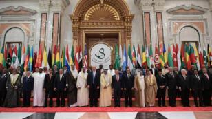 Donald Trump au Centre de congrès du roi Abdulaziz, à Riyad, le 21 mai 2017.