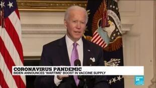 "2021-01-27 09:36 Coronavirus pandemic: Biden announces ""wartime"" boost in vaccine supply"
