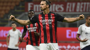 Another positive test for AC Milan's Zlatan Ibrahimovic makes him a doubt for the derby against Inter