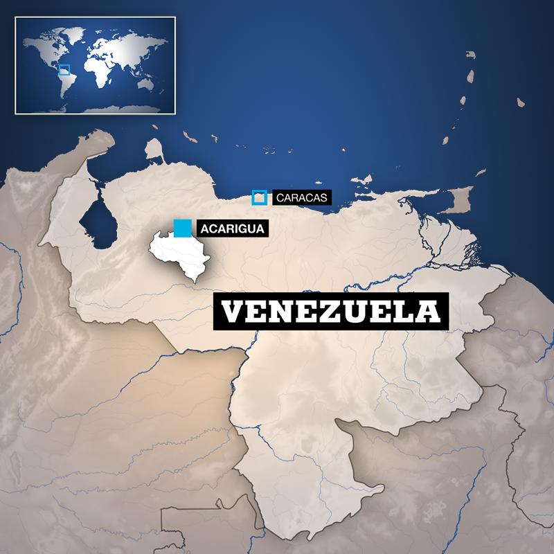 Mapa del estado de Portuguesa en Venezuela donde se presentó el motín que dejó decenas de muertos el 24 de mayo de 2019.