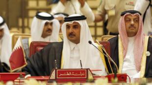 L'émir qatari Sheikh Tamim bin Hamad al-Thani, le 6 décembre 2016 à Manama.