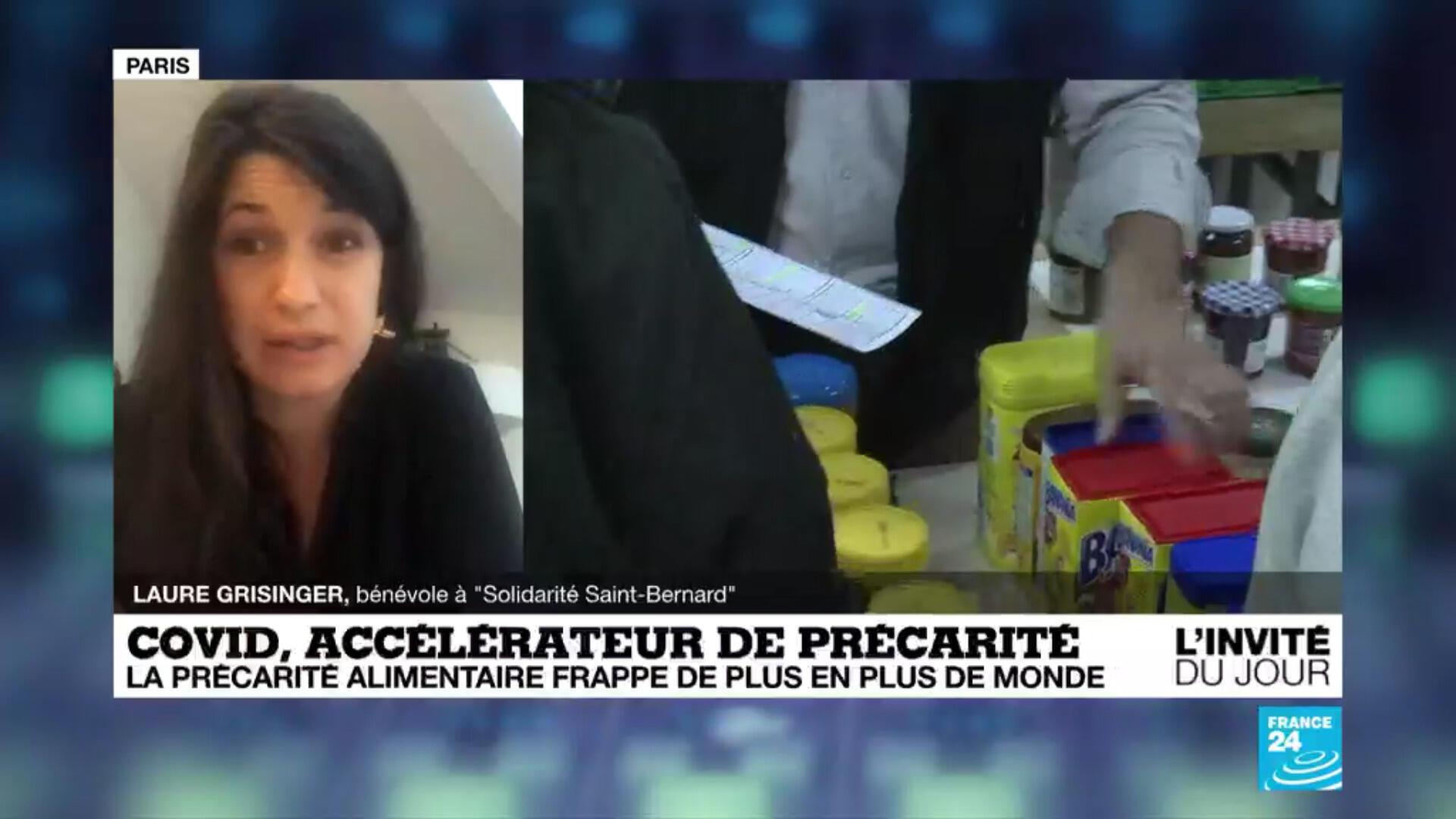 """Laure Grisinger, bénévole pour l'association """"Solidarité Saint-Bernard"""""""