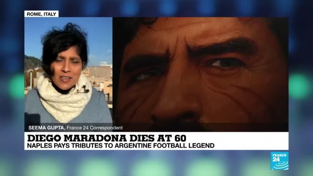 2020-11-26 09:03 Diego Maradona dies at 60: Naples pays tribute to Argentine football legend