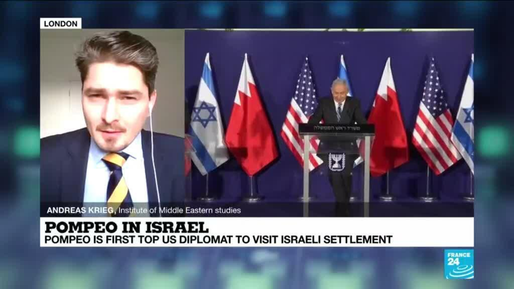 2020-11-19 14:33 Pompeo is first top US diplomat to visit Israeli settlement