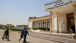 La cour d'appel de Bagdad, où des ressortissantsFrançais étaient jugés pour appartenance au groupe jihadiste État islamique.